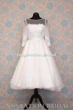 Lace Long Sleeve Boat Neck Regular Wedding Dresses