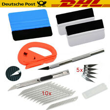 6x KFZ Folien Set Werkzeuge Signieren Car Wrapping Rakel Auto Filz Folie Messer