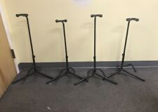 Set Of Four Black Guitar Stands Musicians Gear Brand Padded w/ Closures