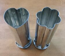 New ListingPampered Chef Valtrompia Bread Tube Pans ~ 1560 Heart & 1550 Flower ~ Retired