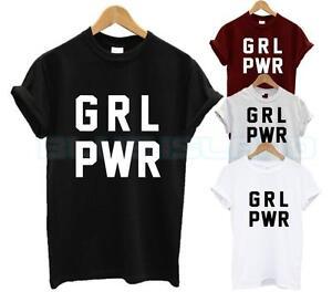 GRL PWR T SHIRT GIRL POWER GANG CUTE MERMAID FASHION TUMBLR HIPSTER SLOGAN NEW