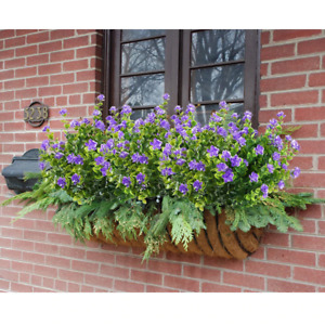 Artificial Flowers Outdoor Plant Shrubs Boxwood Plastic Leaves Fake Bushes Green