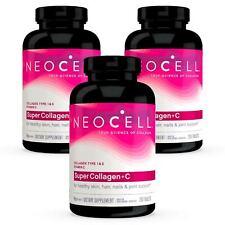 3 X Neocell Super Colágeno + C, Tipo I e III 1 & 3 250 Comprimidos fresca, Made In Usa