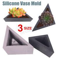 Silicone Flower Pot Mold Triangle Geometric Craft Succulent Plant Concrete Mould