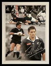 *New* Zinzan Brooke New Zealand Signed 12x16 Rugby Montage