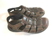 Clarks Men's Sandals Strap Sz 10 M Distressed Brown Casual Leather