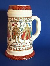 Colorful Beer Stein Knights Armor Elisabeth Liegl Made in Mexico
