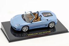 Ferrari 360 Spider blau mit Vitrine 1:43 Altaya