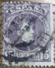 SELLO ALFONSO XIII 1901 15c. VIOLETA  USADO EDIFIL 246