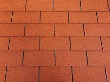 Dachschindeln 27 m? Rechteck Form Ziegelrot (9 Pakete) Schindeln Dachpappe