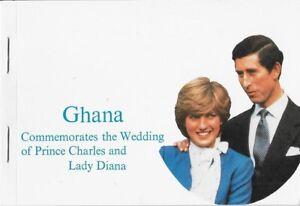 Ghana 1981 Royal Wedding Booklet, Scott 764a - pw67