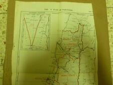 Jewish Plan A Partition Woodhead Comission Map 43*28Cm 1938 Israel