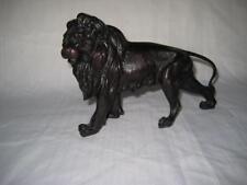 "Vintage Heavy Resin Lion Figurine 8"" Long ~ Paperweight / Doorstop"