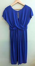 Vintage Union Made Dress Navy Blue with Capped Sleeves