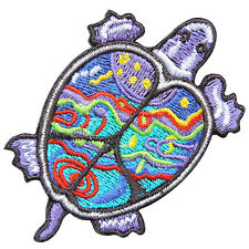Turtle Animal Multi Colorful Peace Hippie Boho Retro Bug Iron-On Patches #A107