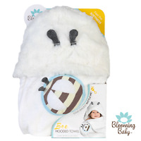 Blooming Bath, Bee Hooded Towel, Baby Towel, Absorbent,Soft,Cute, Bathtime Towel