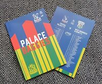 Crystal Palace v West Brom Bromwich Albion PREMIER LEAGUE PROGRAMME 13/3/21