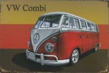 VW VOLKSWAGEN CAMPER VAN COMBI WAGON SAMBA BUS WESTFALIA METAL PLAQUE SIGN B58