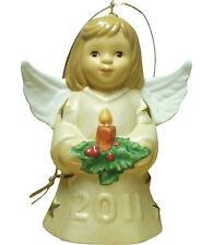 Goebel Angel Bell 2011 NIB Champagne Dress Angel Holding Candle 106301 NEW BOX