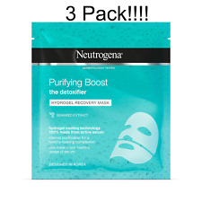 3 x Neutrogena Purifying Boost Hydrogel Recovery Mask, 30 ml
