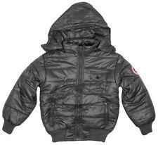 Veste classique de neige gris pour garçon de 2 à 16 ans