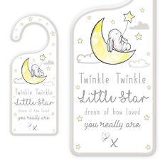 Nuevo Bebé Puerta Placa Colgante con texto-Twinkle Twinkle Little Star