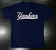 New York Yankees T-Shirt Graphic NY Cotton Men Adult Logo Jersey