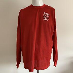England 1966 Retro World Cup Football Long Sleeve Red shirt jersey Umbro XL