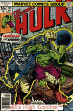 HULK  (1962 Series) (#1-6, #102-474, #600-635)(INCREDIBLE)(MV) #209 Fine