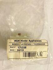 Bosch Home Appliances Dishwasher ON-OFF Switch Part # 175338 -New fm Bosch Parts