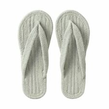 MUJI WASHABLE COTTON GRAY INDOOR SANDALS SLIPPERS WITH TRACKING