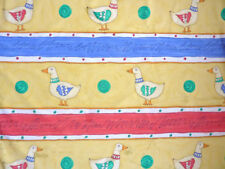 CHILDREN NURSERY 'quackers' DUCKS PRINT YELLOW CURTAINS CUSHION FABRIC 2.8 mtrs