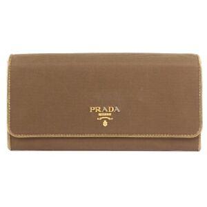 PRADA purse Brown/gold Nylon unisex