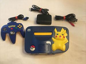 Nintendo 64 Pikachu Version Blue/Yellow Console