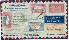 Guadeloupe 1940 Basse Terre cancel on registered, airmail cover to France