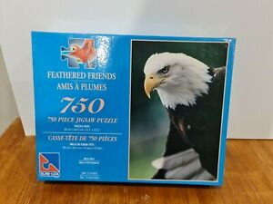 750 Piece Jigsaw Puzzle Feathered Friends Bald Eagle Canadian