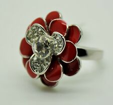 New Fashion ring Red color flower Style Fashion hot Design gift size:7 DD-14