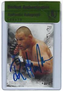 Dan Henderson Signed 2014 Topps UFC Bloodlines Card 63 BAS Beckett COA Autograph