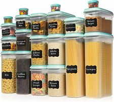 LARGEST Set of 40 Pc Food Storage Containers (20 Container Set) Airtight $80