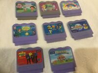 Vtech VSmile Game Cartridges Lot of 8 Game Cinderella, Dora, Toy Story, Mermaid,