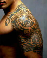 Large Temporary Tattoo Dwayne Johnson Same Arm 3D Tattoos Sticker Men Waterproof