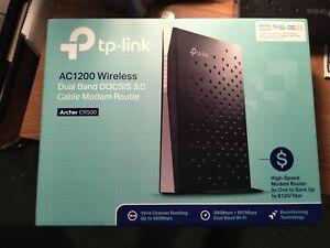 TP-LINK ARCHER CR500 Dual Band Modem Router - Black (0845973096694)