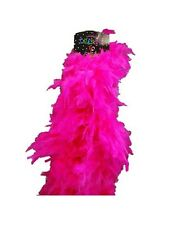 Costume Party Accessory 1920s Flapper Gangster Burlesque Deluxe Boa 180cm Pink