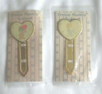2 Vintage Enesco Precious Moments Bookmarks New In Package