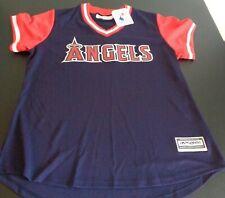 ANAHEIM Los Angeles ANGELS Cool Base MAJESTIC Womens M Jersey Shirt MLB Sewn NEW