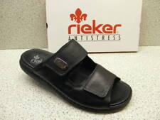 rieker ® SALE  Top Preis  Klett Leder Pantolette schwarz (R27)