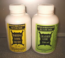 TAXIDERMY KIT. tanning solution + leather lube for 2-4 kg wet skin FREE POSTAGE