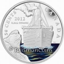 Canada 2012 RMS Titanic Sinking 100th 50 Cents Color Silver Plated Proof