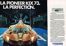 PUBLICITE ADVERTISING 044   1981   PIONEER   aurostéréo KEX 73  ( 2 pag)