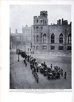 1911 Aufdruck Procession Sich Mausoleum ~ Letzte Reise der Königin Victoria